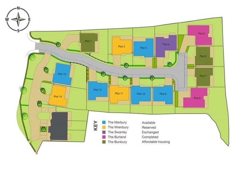 Nantwich - Over 50% of Phase 1 now SOLD site plan